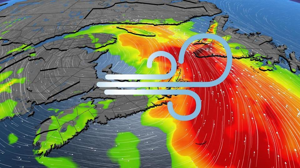 Soaking rains, fierce 100+ km/h winds impacting Atlantic Canada