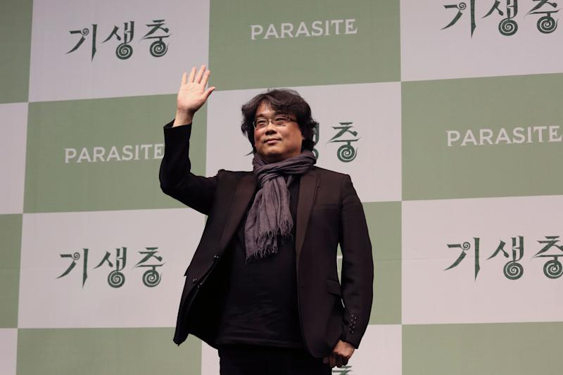 Bong Joon-ho, director of Oscar-winning Parasite, at a press conference in Seoul, South Korea. (Photo: ASSOCIATED PRESS)