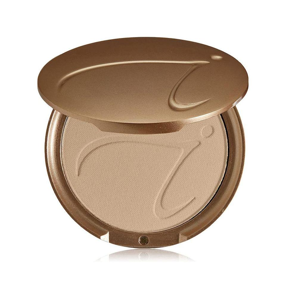 """<p><strong>jane iredale</strong></p><p>amazon.com</p><p><a href=""""https://www.amazon.com/dp/B01766NOA8?tag=syn-yahoo-20&ascsubtag=%5Bartid%7C10051.g.36688891%5Bsrc%7Cyahoo-us"""" rel=""""nofollow noopener"""" target=""""_blank"""" data-ylk=""""slk:Shop Now"""" class=""""link rapid-noclick-resp"""">Shop Now</a></p><p><del>$44.00</del> $30.80 <strong>(30% off)</strong></p><p>Available in 27 shades, Jane Iredale's PurePressed Base Refill is perfect for those who love the coverage of a foundation, but without the heaviness it brings. Since it's a sheer matte foundation, it'll blend easily with your skin, fully avoiding the dreaded cakey effect. </p>"""