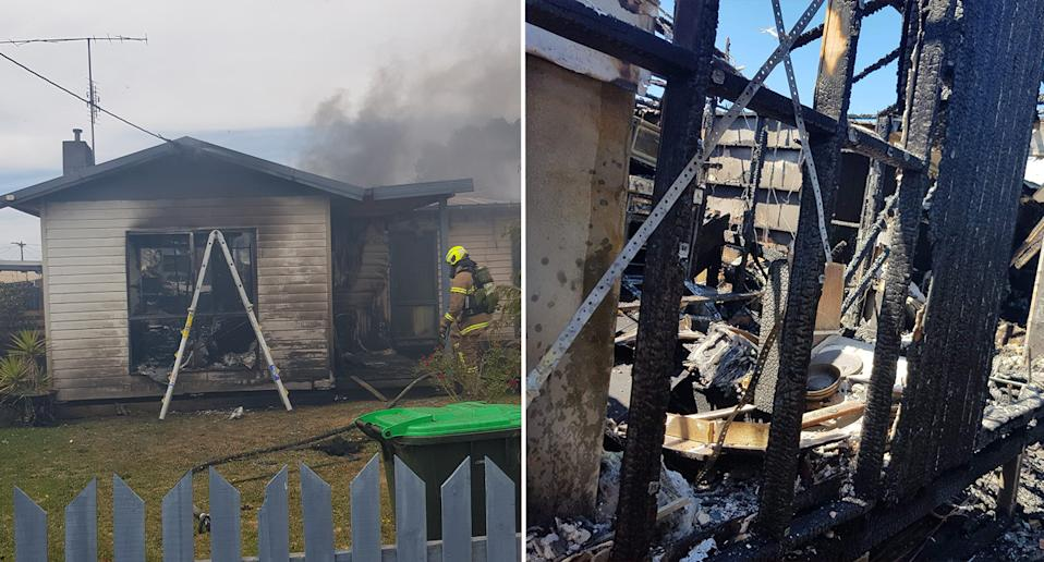Ms Mayes spotted plumes of smoke billowing from about 1km away and immediately feared it was her son's home based on the location. Source: Supplied