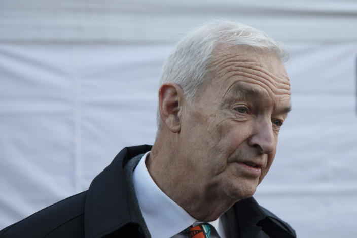 Jon Snow, journalist and television presenter, best known as the longest-running presenter of Channel 4 News, on the day that Conservative Party MPs triggered a vote of no confidence in the Prime Minister on 12th December 2018 in London, England, United Kingdom. (photo by Mike Kemp/In Pictures via Getty Images Images)