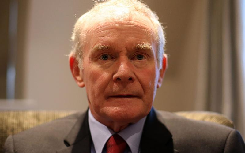 Martin McGuinness, who has died today - Credit: Niall Carson /PA