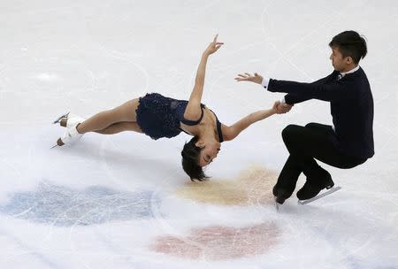Figure Skating - ISU World Championships 2017 - Pairs Short Program - Helsinki, Finland - 29/3/17 - Sui Wenjing and Han Cong of China compete. REUTERS/Grigory Dukor
