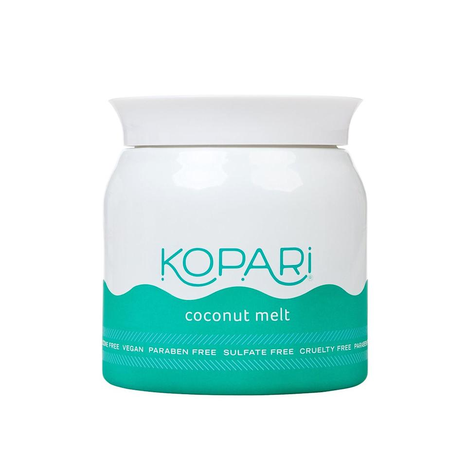 """""""Use Kopari Beauty Coconut Melt as a pre-cleanse and the makeup just melts off! Bonus, it adds an extra boost of hydration, which my skin desperately needs during the winter."""""""