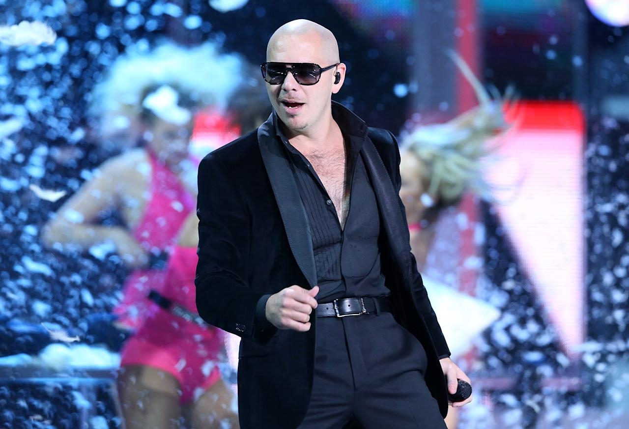 "Pitbull Pitbull's real name, Armando Cristian Perez, doesn't have quite the same flair. The Miami native says he chose the breed of dog because ""they bite to lock. The dog is too stupid to lose. And they're outlawed in Dade County. They're basically everything that I am. It's been a constant fight."" The rapper will be performing again at this year's Bud Light Hotel Super Bowl party."