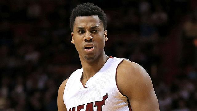 "Hassan Whiteside once again complained that he didn't ""have a chance to fight"" after the 76ers eliminated the Heat from the playoffs."