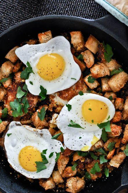 """<p>There is stuffing and mashed potato pancakes in here and you will probably want to eat it straight from the skillet. We're not judging. </p><p><em><a href=""""http://www.howsweeteats.com/2011/11/day-after-thanksgiving-breakfast-hash-with-cheddar-mashed-potato-pancakes/"""" rel=""""nofollow noopener"""" target=""""_blank"""" data-ylk=""""slk:Get the recipe from How Sweet Eats »"""" class=""""link rapid-noclick-resp"""">Get the recipe from How Sweet Eats »</a></em></p><p><strong>RELATED:</strong> <a href=""""https://www.goodhousekeeping.com/food-recipes/easy/g871/quick-breakfasts/"""" rel=""""nofollow noopener"""" target=""""_blank"""" data-ylk=""""slk:55 Quick and Easy Healthy Breakfasts for Your Busiest Mornings"""" class=""""link rapid-noclick-resp"""">55 Quick and Easy Healthy Breakfasts for Your Busiest Mornings</a><br></p>"""