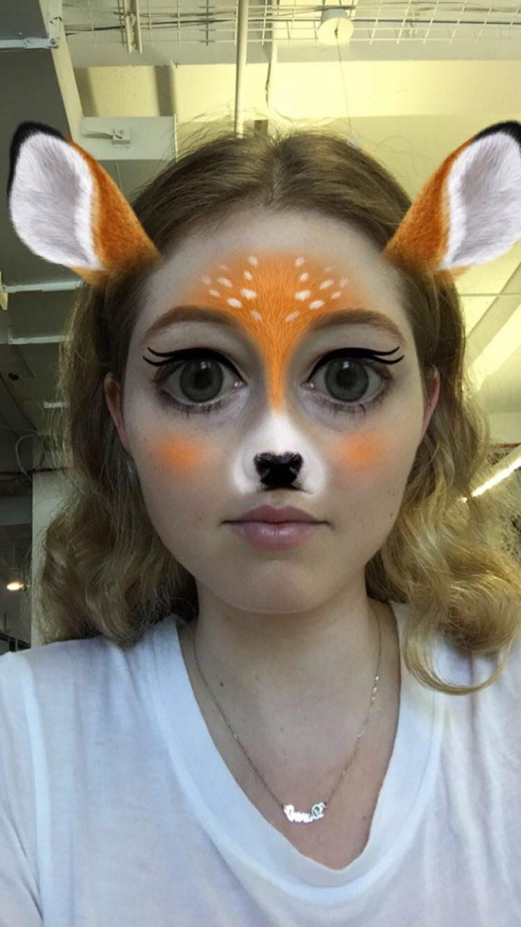 Makeup that looks like snapchat filter