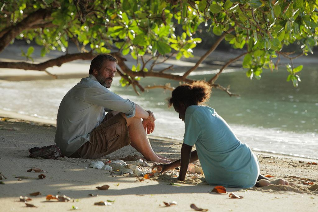 """Mr. Pip"" In 1991, a war over a copper mine in the South Pacific tore the island of Bougainville apart. The reclusive ""Popeye"" (Hugh Laurie) offers the children in 14-year-old Matilda's tiny village an escape with Charles Dickens' Great Expectations. But on an island at war, fiction can have dangerous consequences. Also starring Xzannjah Matsi, Healesville Joel, Eka Darville and Kerry Fox."