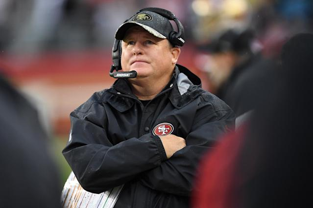 "Chip Kelly has not ruled out a return to college football after being fired by the <a class=""link rapid-noclick-resp"" href=""/nfl/teams/sfo/"" data-ylk=""slk:San Francisco 49ers"">San Francisco 49ers</a>. (Getty)"