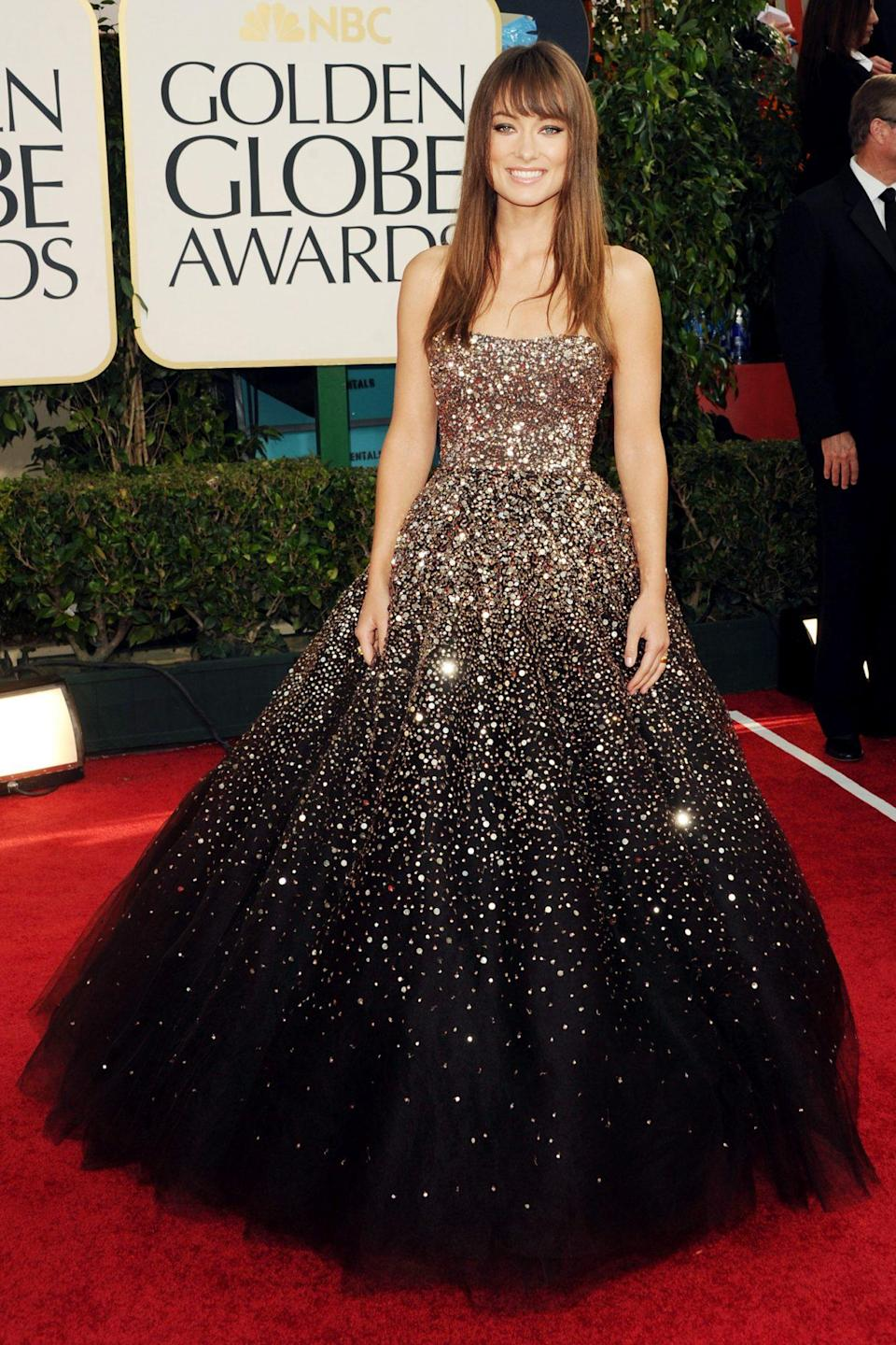 <p>Olivia Wilde was just gaining fame for her work on <em>House </em>when she arrived in this showstopping Marchesa number, which ensured anyone who didn't know her yet would by the time the night was over.</p>