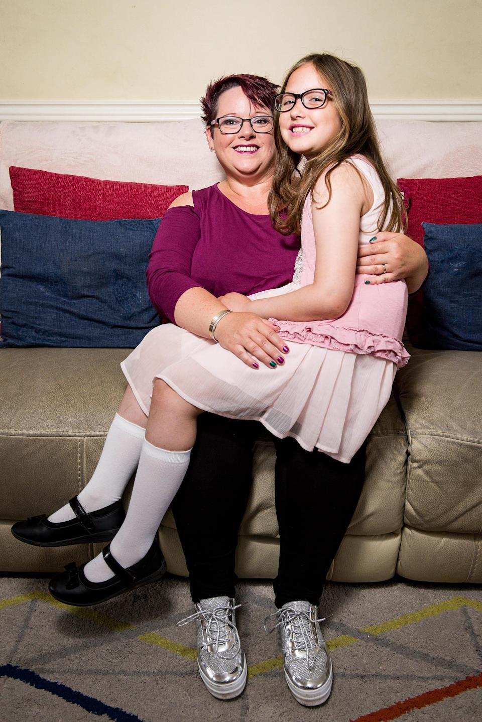 Sharon Spink, 50, with her 9-year-old daughter Charlotte. (Photo: Mercury Press)