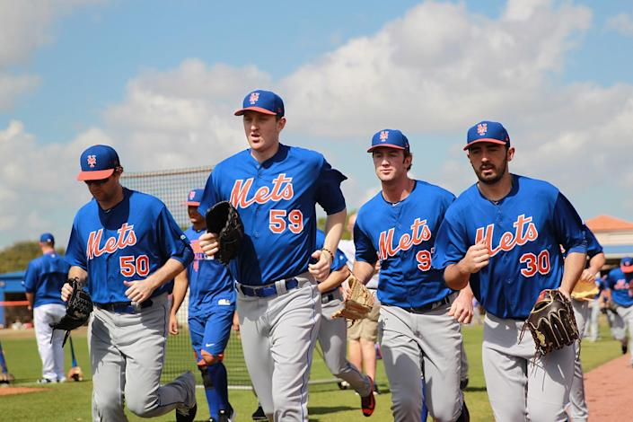 <p>New York Mets prospects head in after workouts at the New York Mets spring training facility in Port St. Lucie, Fla., Wednesday, March 1, 2017. (Gordon Donovan/Yahoo Sports) </p>