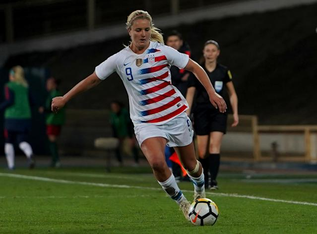 "<a class=""link rapid-noclick-resp"" href=""/olympics/rio-2016/a/1124268/"" data-ylk=""slk:Lindsey Horan"">Lindsey Horan</a> will help lead the U.S. women's national team into the World Cup. (Action Foto Sport/NurPhoto via Getty)"