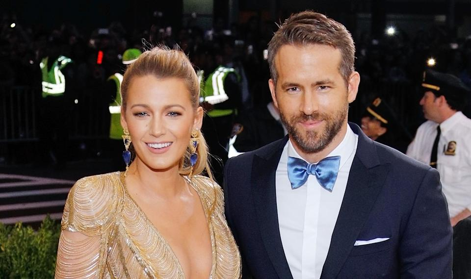 Blake Lively and Ryan Reynolds at the 2017 Met Gala on May 1, 2017. (Photo: Jackson Lee / Contributor)