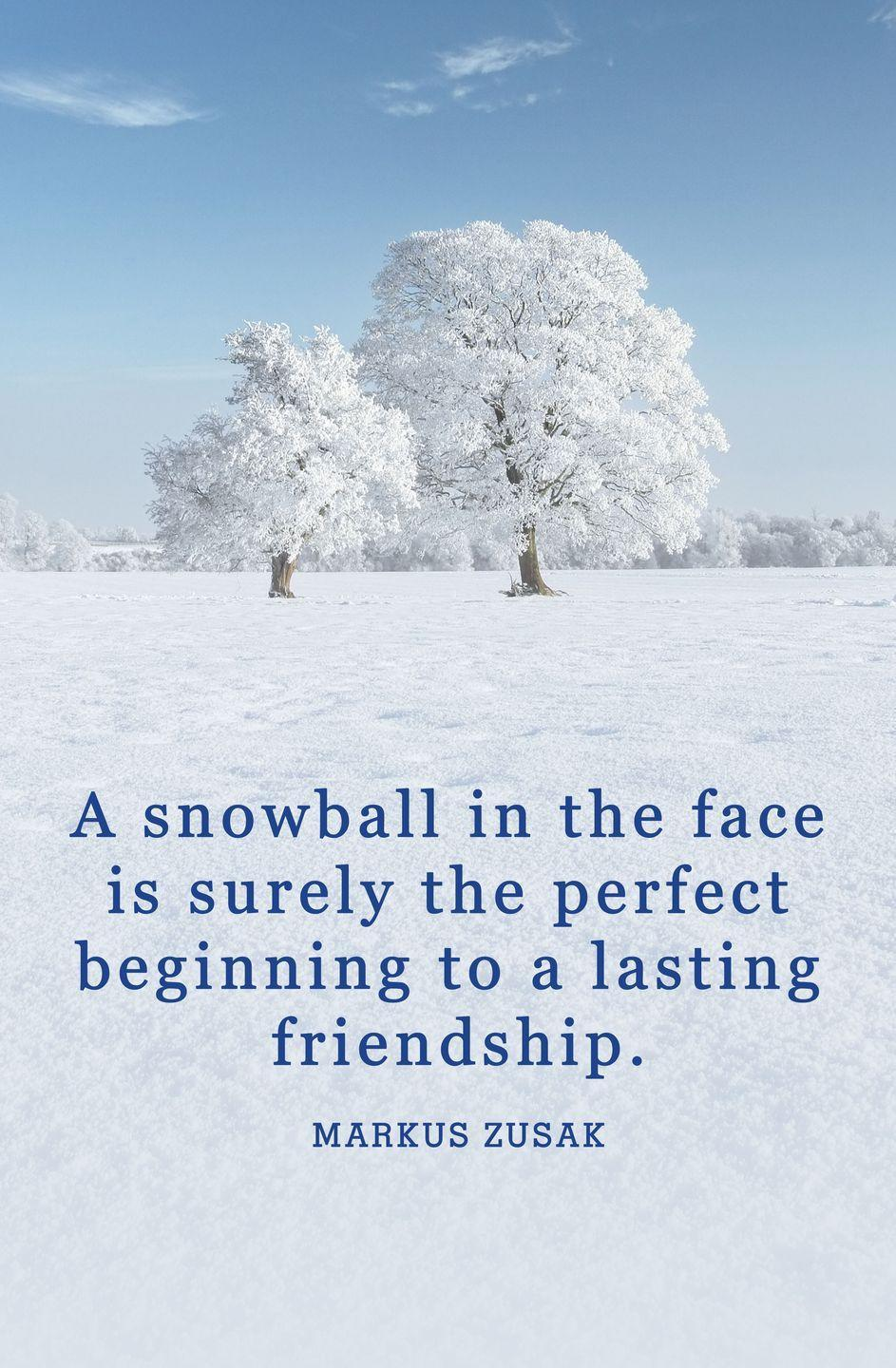 "<p>""A snowball in the face is surely the perfect beginning to a lasting friendship.""</p>"
