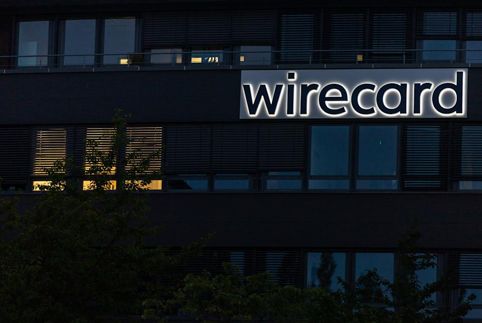 20 July 2020, Bavaria, Aschheim: The Wirecard logo can be seen at the headquarters of the payment service provider in Aschbeim near Munich. Photo: Peter Kneffel/dpa (Photo by Peter Kneffel/picture alliance via Getty Images)