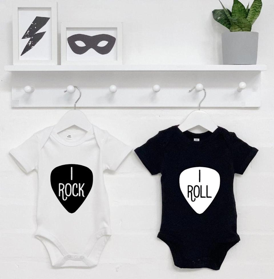 <p>Who loves rock and roll? Any set of siblings in these adorable <span>rock-and-roll costumes</span> ($37).</p>
