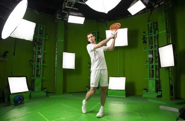 Behind the scenes on set as Wimbledon champion and American Express ambassador, Andy Murray, films content for the new Champion's Rally mobile game
