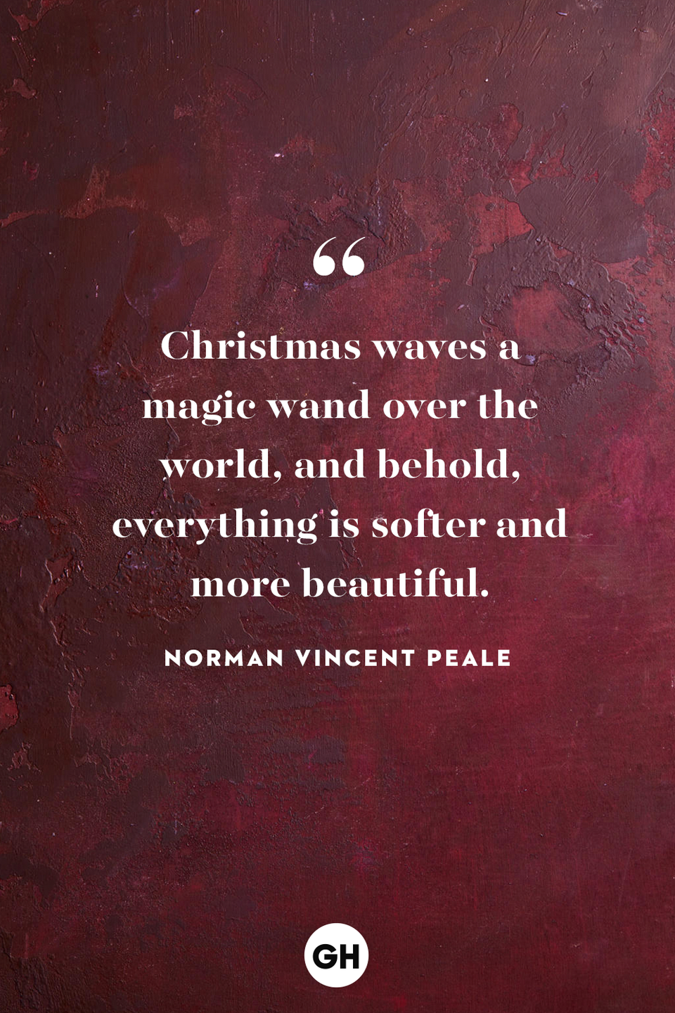 <p>Christmas waves a magic wand over the world, and behold, everything is softer and more beautiful. </p>