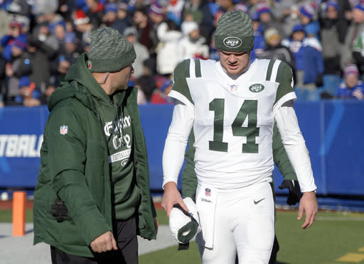 7ef39fb138a Jets see progress from Darnold in return from injury