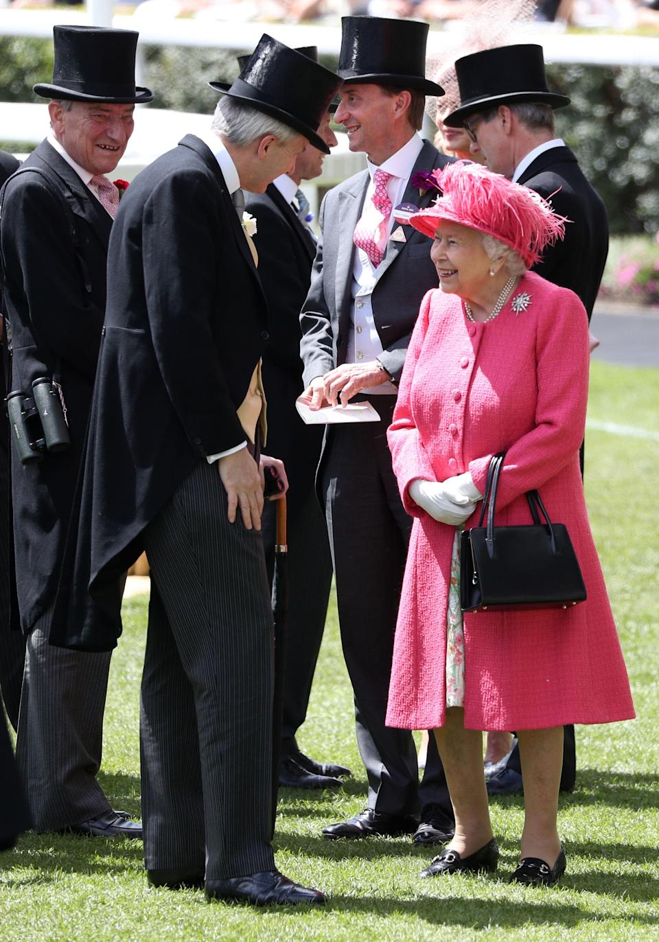 <p>On the fourth day of Royal Ascot, the sun finally turned up, and the royals did too. Read on to see all the best photos of Queen Elizabeth's family on the penultimate day of the races. </p>