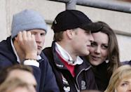 <p>While Prince Harry looks off into the distant, Kate and Will share a private chat in the stands during the RBS Six Nations Championship match.<br></p>