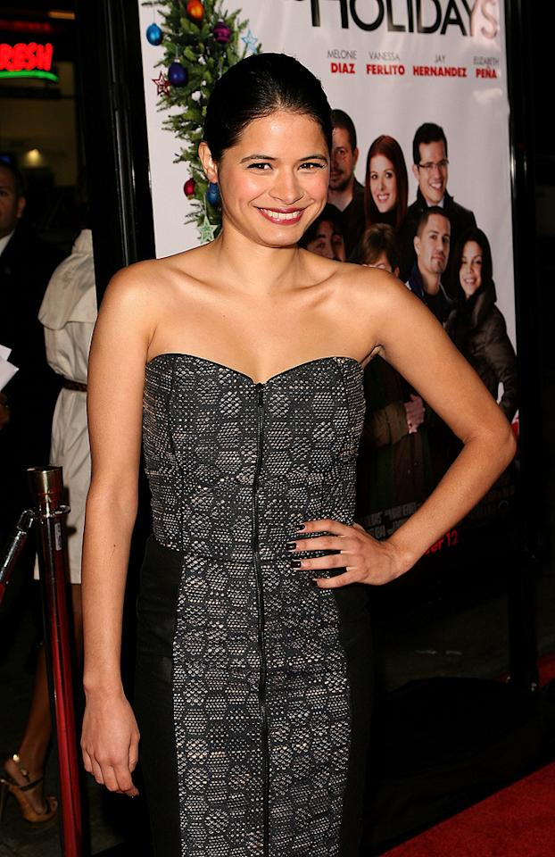 "<a href=""http://movies.yahoo.com/movie/contributor/1808458946"">Melonie Diaz</a> at the Los Angeles premiere of <a href=""http://movies.yahoo.com/movie/1809991685/info"">Nothing Like the Holidays</a> - 12/03/2008"