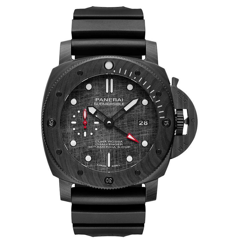 "<p><strong>$21,600</strong></p><p><a class=""link rapid-noclick-resp"" href=""https://www.panerai.com/us/en/collections/watch-collection/submersible/pam01039-submersible-luna-rossa---47mm.html"" rel=""nofollow noopener"" target=""_blank"" data-ylk=""slk:LEARN MORE"">LEARN MORE</a></p><p>Panerai started out supplying Italian Navy frogmen in the 1930s, so it knows a thing or two about diving history. But it also knows about the future. This year, despite the global lockdown, Panerai has debuted a bewildering array of new watches at the frontier of materials science. This very special edition of the Submersible line was launched in support of Luna Rossa, Prada's bid for the next America's Cup (the oldest existing sporting trophy dating back to 1851). As well as a case made from Panerai's proprietary Carbotech material—a tough, non-corrosive composite of carbon fiber that protects to almost 1,000 feet (300m)—it features a dark gray dial cut from the high-tech sail of the last Luna Rossa.</p>"