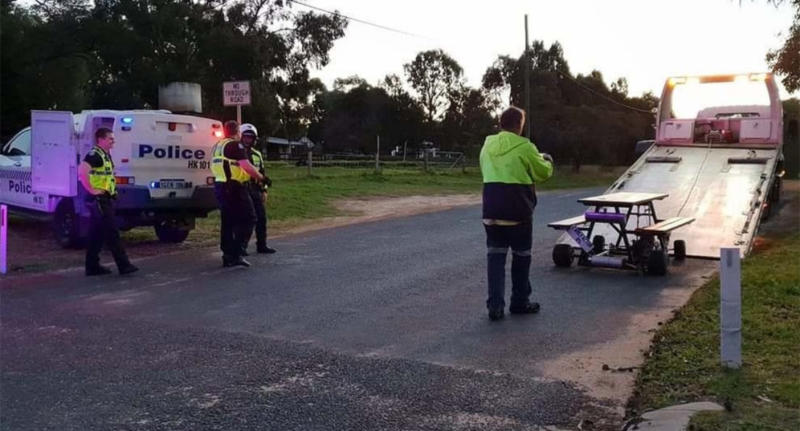 Motorised Picnic Table On Perth Wine Tour Seized By Police - Motorized picnic table for sale