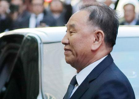 North Korean envoy Kim Yong Chol arrives at a hotel in New York U.S