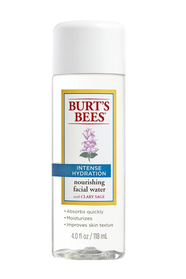 """<p>Swap your heavy serum for this lightweight toner this summer. Pat this glycerin-rich facial water on clean skin to soften and restore pH balance.<span></span></p><p><span><em>Burt's Bees Intense Hydration Nourishing Facial Water,<span>$12.99</span>; <a rel=""""nofollow"""" href=""""https://www.amazon.com/Burts-Bees-Intense-Hydration-Nourishing/dp/B012DWJVEI?tag=syndication-20"""">amazon.com</a></em><br></span></p>"""