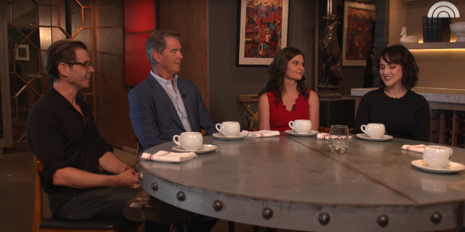 Matthew Lawrence, Pierce Brosnan, Lisa Jakub, and Mara Wilson reunited for the Today Show (YouTube/Today Show)