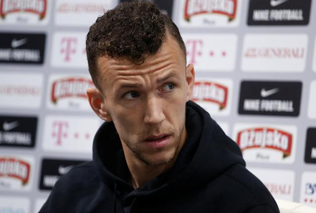 Soccer Football - World Cup - Croatia Press Conference - Croatia Training Camp, Roschino, Russia - June 23, 2018 Croatia's Ivan Perisic during the press conference REUTERS/Anton Vaganov