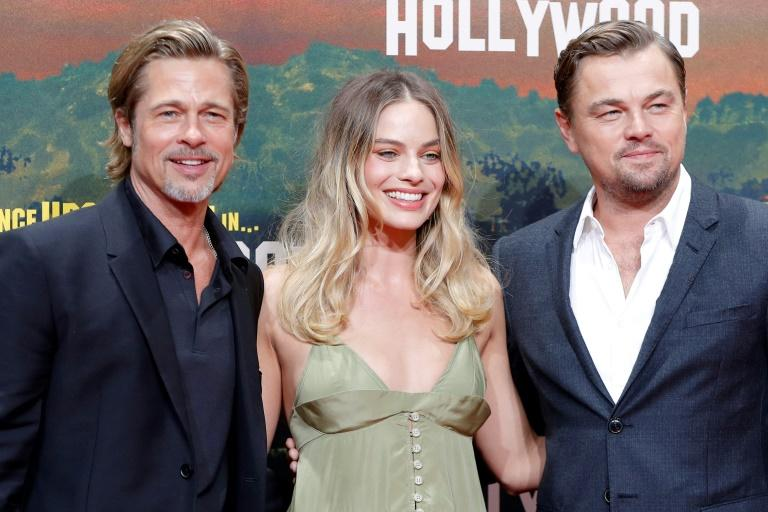 "Brad Pitt plays an aging stuntman who is close friends with Leonardo DiCaprio's actor in the movie ""Once Upon A Time... In Hollywood"""