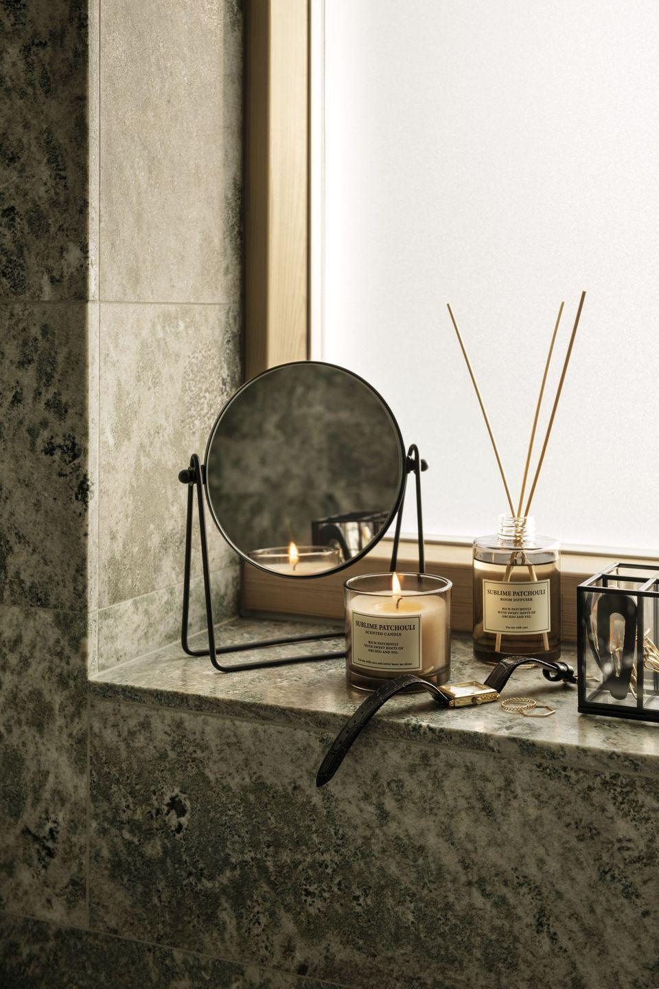 """<p>Add candles and diffusers for a spa like feel to elapse in the fragrance. The sense of smell is closely linked to memories and emotions and adding a subtle scent to every room can make your space feel even more welcoming. </p><p><a class=""""link rapid-noclick-resp"""" href=""""https://go.redirectingat.com?id=127X1599956&url=https%3A%2F%2Fwww2.hm.com%2Fen_gb%2Fsearch-results.html%3Fq%3Dcandles&sref=https%3A%2F%2Fwww.prima.co.uk%2Fhome-ideas%2Fhome-accessories-buys%2Fg37325647%2Fhandm-home-autumn-collection%2F"""" rel=""""nofollow noopener"""" target=""""_blank"""" data-ylk=""""slk:Shop candles at H&M"""">Shop candles at H&M</a></p>"""