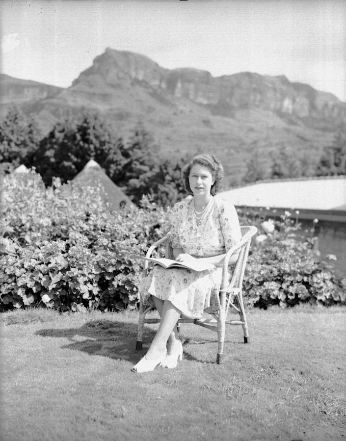 The then Princess Elizabeth on her 21st birthday, in South Africa (Rex)