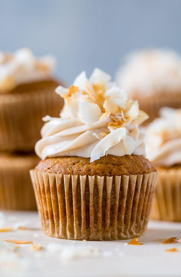 """<p>One bite into these cakes reveals the decadent dulce de leche filling. It makes this dessert melt-in-your-mouth delicious.</p><p><strong>Get the recipe at <a href=""""https://bakerbynature.com/dulce-de-leche-pumpkin-coconut-cupcakes-with-cinnamon-cream-cheese-frosting/"""" target=""""_blank"""">Baker by Nature</a>.</strong></p><p><strong><a class=""""body-btn-link"""" href=""""https://www.amazon.com/AmazonBasics-Nonstick-Carbon-Steel-Muffin/dp/B073P4RPFP?tag=syn-yahoo-20&ascsubtag=%5Bartid%7C10050.g.4709%5Bsrc%7Cyahoo-us"""" target=""""_blank"""">SHOP MUFFIN PANS</a><br></strong></p>"""