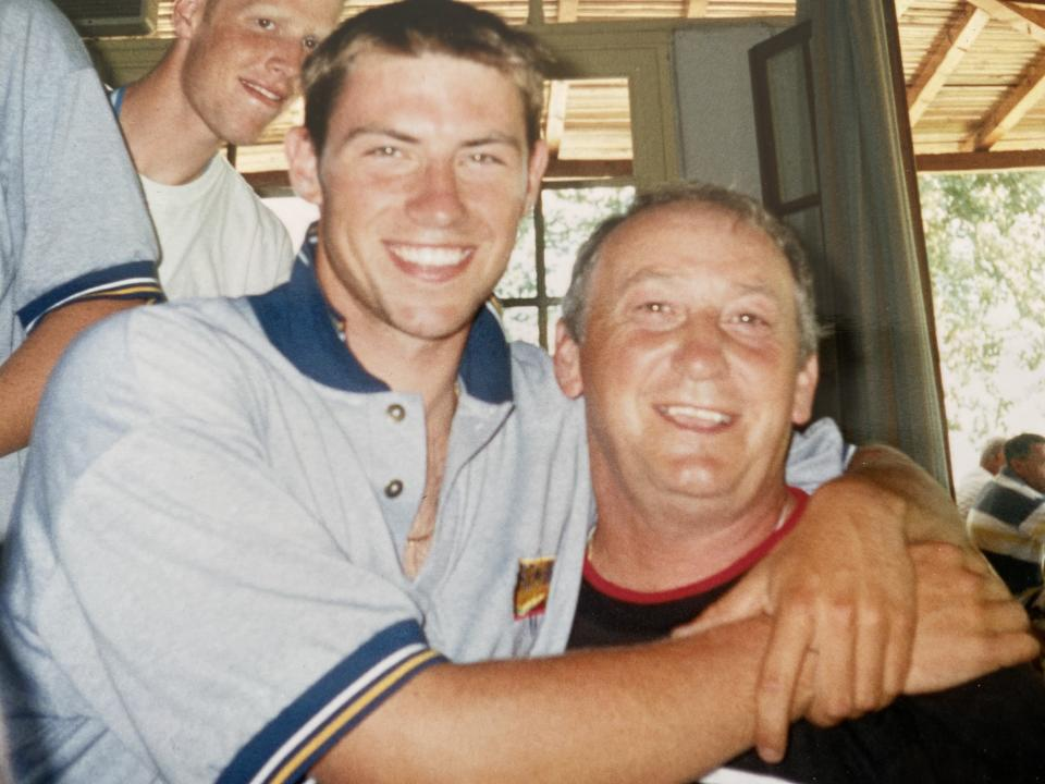 Terry, left, survived a heart attack on the river in 1997