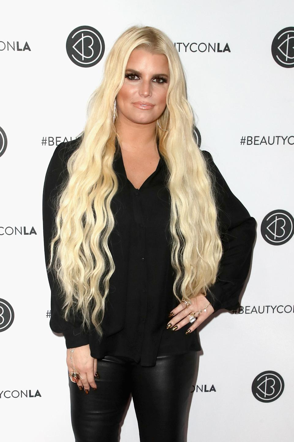 Jessica Simpson attends the Beautycon Festival LA 2018 at the Los Angeles Convention Center on July 14, 2018 in Los Angeles, California.