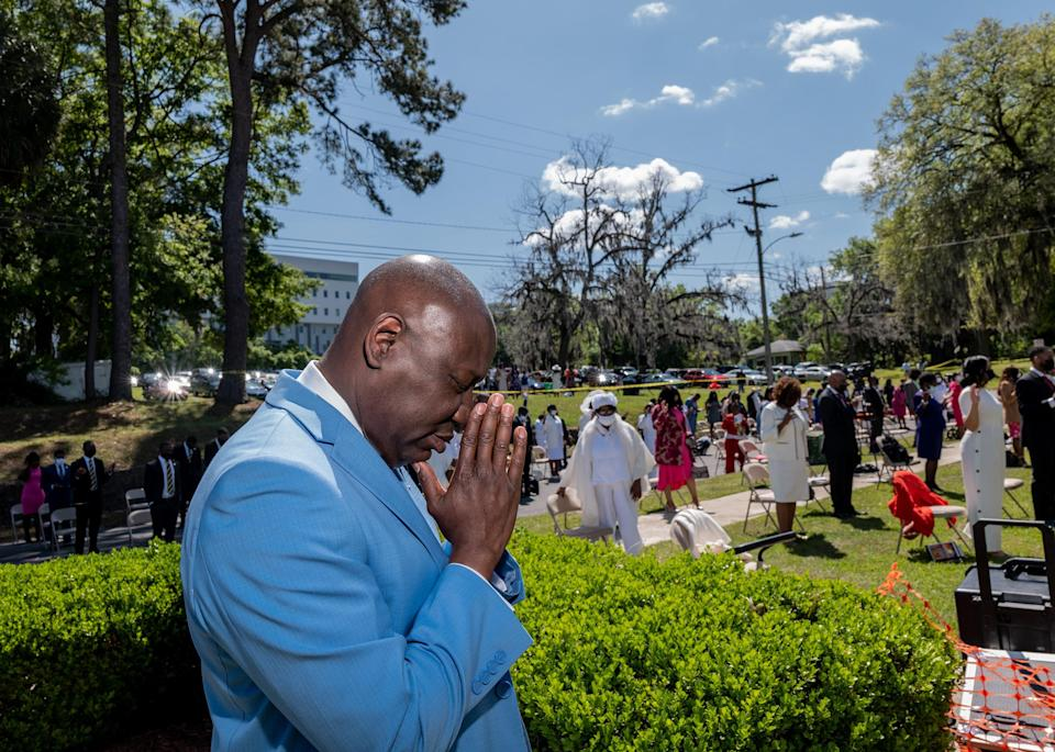 """Crump attends Easter Sunday Mass at Bethel Missionary Baptist Church in Tallahassee, Fla., on April 4.<span class=""""copyright"""">Ruddy Roye for TIME</span>"""