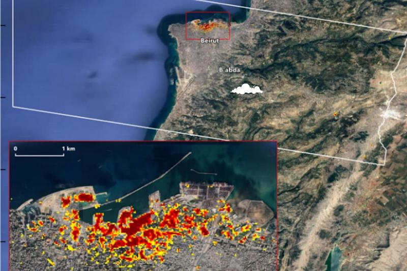 NASA's Satellite Image Captures the Unfathomable Damage Caused in Beirut Blast