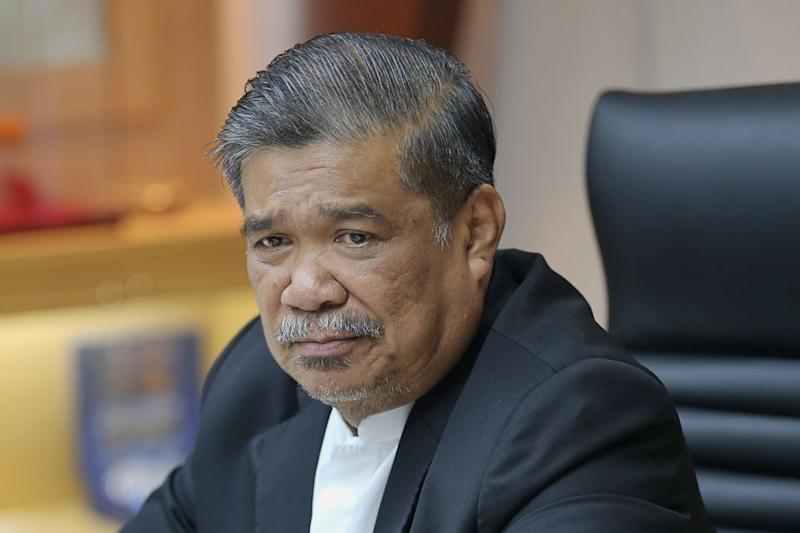 Defence Minister Mohamad Sabu denied that Malaysia is being in voicing out its concerns about China's treatment of its Uyghur Muslim community. — Picture by Ahmad Zamzahuri