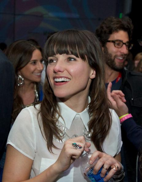 Sophia Bush watches Passion Pit perform as part of Taco Bell Feed the Beat's first-ever crowd and social sourced 'Rockumentary' at Hype Machine's Hype Hotel during SXSW on March 11, 2013 in Austin, Texas.