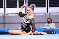 """<p>There were three co-champions on floor, and Utah's O'Keefe, who also tied for the highest score on bars, received a 9.9625 on the event. <a href=""""http://www.youtube.com/watch?v=7GENSB8ic3k"""" class=""""link rapid-noclick-resp"""" rel=""""nofollow noopener"""" target=""""_blank"""" data-ylk=""""slk:Watch her full routine here"""">Watch her full routine here</a>.</p>"""