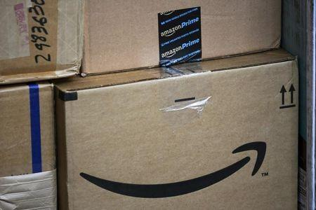 Amazon boxes are organized to be delivered in New York July 24, 2015. REUTERS/Eduardo Munoz/Files