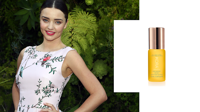 "<p>Miranda Kerr is without a doubt one of our muses for living a beautiful, healthy, and happy life. Her glow is simply unmatched; however, we are able to re-create it, thanks to her Aussie-made natural and organics skin care line. <br><br>Noni Radiant Eye Oil, $38, <a href=""https://us.koraorganics.com/collections/get-the-noni-glow/products/noni-radiant-eye-oil"" rel=""nofollow noopener"" target=""_blank"" data-ylk=""slk:us.koraorganics.com"" class=""link rapid-noclick-resp"">us.koraorganics.com</a>. (Art by Quinn Lemmers for Yahoo Lifestyle) </p>"