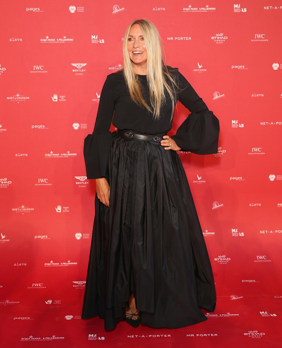 SYDNEY, AUSTRALIA - FEBRUARY 01:  Collette Dinnigan attends the inaugural Museum of Applied Arts and Sciences (MAAS) Centre for Fashion Bal at Powerhouse Museum on February 1, 2018 in Sydney, Australia.  (Photo by Don Arnold/WireImage)