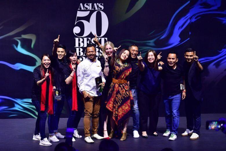 The Old Man team at the Asia's 50 Best Bars awards ceremony at Capitol Theatre on May 9, 2019. (PHOTO: Asia's 50 Best Bars)