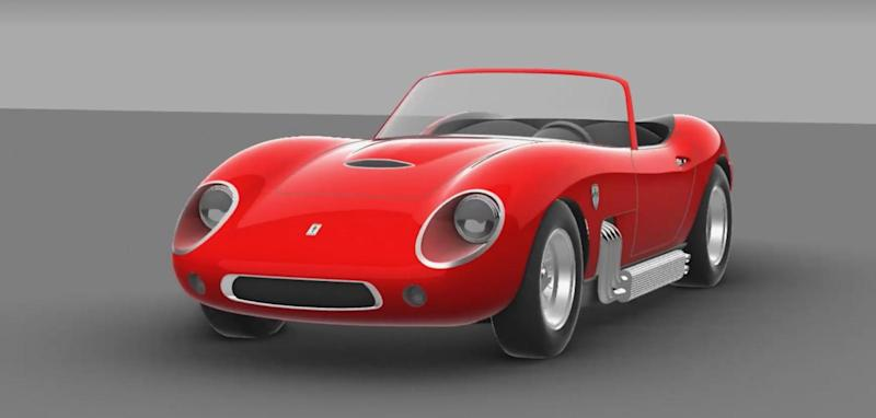 glickenhaus reveals its new retro style v8 sports car
